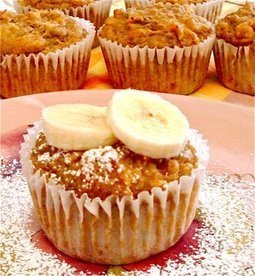 Vegan Pineapple Banana Sunshine Muffins - easy and delicious | My Vegan recipes | Scoop.it