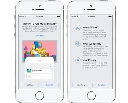 Facebook une fonction à la Shazam pour connaitre la musique que vous écoutez | Scoop.it Sysico | Scoop.it