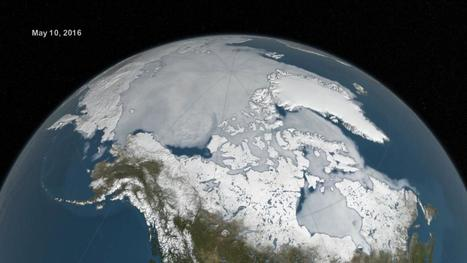 VIDEO. Six mois de fonte de l'Arctique, filmés de l'espace par la Nasa | Information Publique et Communication | Scoop.it