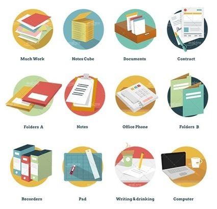 Freebie: Office And Business Icon Pack (92 Icons, AI, EPS, PSD, PDF, PNG, SVG) | El Mundo del Diseño Gráfico | Scoop.it