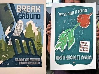 Artist Channels Historical Propaganda Posters to Promote Gardening | Vertical Farm - Food Factory | Scoop.it