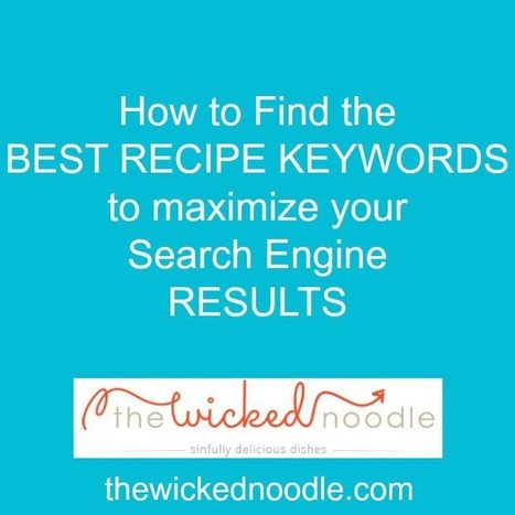How to Find the BEST Recipe Keywords for Food Bloggers • The Wicked Noodle   Web Content Enjoyneering   Scoop.it