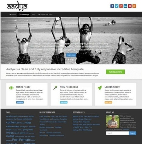 10 Best Free WordPress Themes From February 2014 | Templates And Themes | Scoop.it