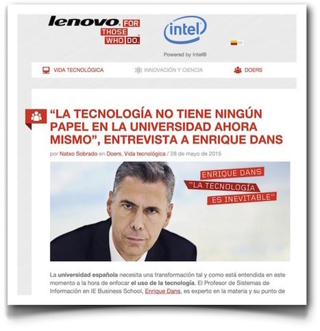 Sobre tecnología y educación » Enrique Dans | Educación a Distancia (EaD) | Scoop.it