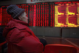 China's Stocks Extend Three-Week Slump as Financial Shares Fall - Bloomberg | China: From Boom to Bust | Scoop.it