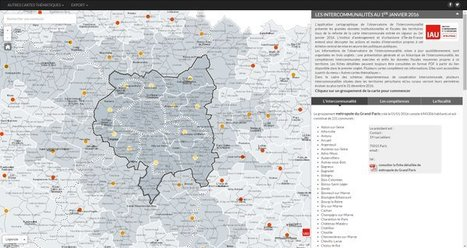 Carte des intercommunalités d' iledefrance #2016 #opendata | Infos en Val d'Oise | Scoop.it