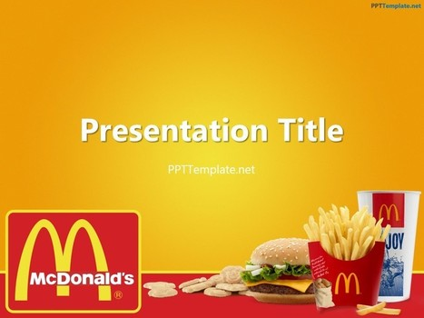 Free McDonald's With Logo PPT Template | Free PPT Templates | Scoop.it