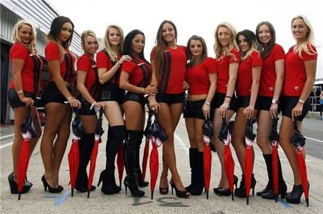 Visordown's 848 Challenge girls | visordown.com | Ductalk Ducati News | Scoop.it