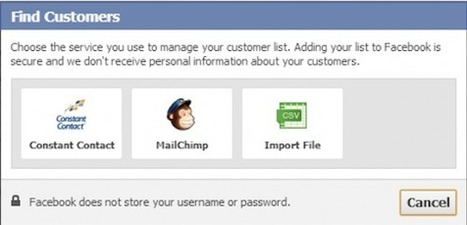 Facebook Teste « Trouver des clients » pour l'Import de Listes E-mail | Emarketinglicious | MediaBrandsTrends | Scoop.it