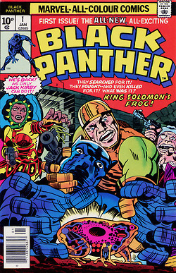 """comicbookcovers: Black Panther #1, January 1977,...   Jack """"King"""" Kirby   Scoop.it"""