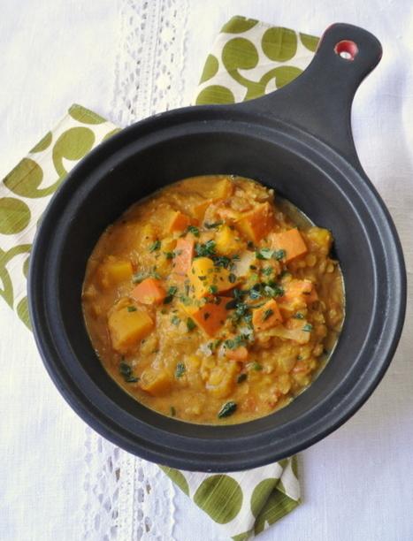 Curry indien de potimarron & lentilles corail | Cuisine | Scoop.it