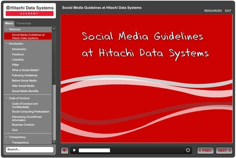 Articulate Storyline: Social Media Guideines at Hitachi Data Systems | E-Learning Examples | Scoop.it