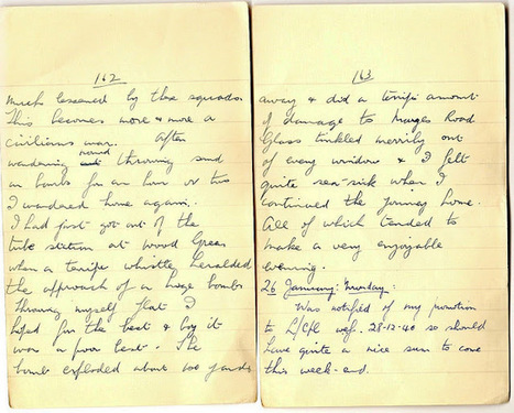 London War Diary: December 30th 1940 (end) Monday 26th January 1941   London War Diary. Original written pages. 1940   Scoop.it
