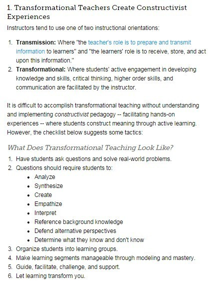 4 Big Things Transformational Teachers Do | Leadership, Innovation, and Creativity | Scoop.it