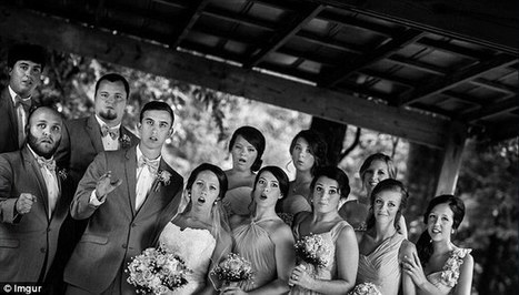 Wedding party caught open-mouthed as photographer falls over - Daily Mail | Weddings | Scoop.it