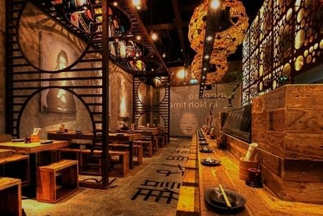 Décoration d'un restaurant japonais par Mojo Design   Décoration: hôtels & restaurants   Scoop.it