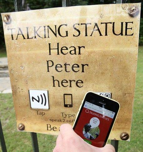 Grace aux téléphones mobiles, les statues de Londres et de Manchester parlent aux passants | Objets connectés, Tag2D & Tourisme | Scoop.it