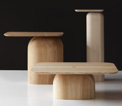 """Jeux de proportions pour les tables """"April"""" d'Alfredo Häberli, en frêne, en chêne ou en hêtre (via designmilk)   inoow design lab   Scoop.it"""