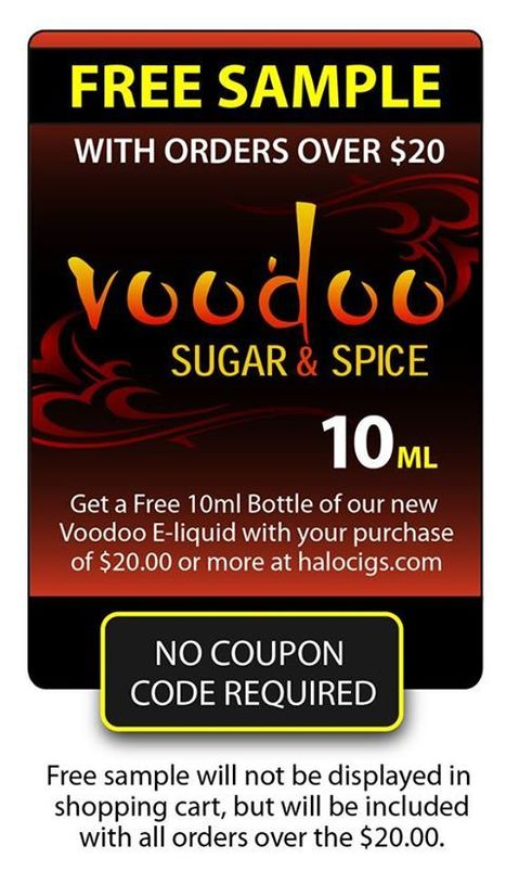Free Sample of New Voodoo E-liquid | Halo E-liquid | E-Cigarettes | Halo Cigs | Scoop.it