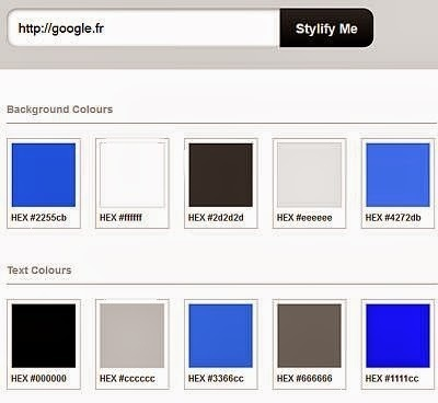 Un service pour connaitre toutes les couleurs et polices d'un site web | Web information Specialist | Scoop.it