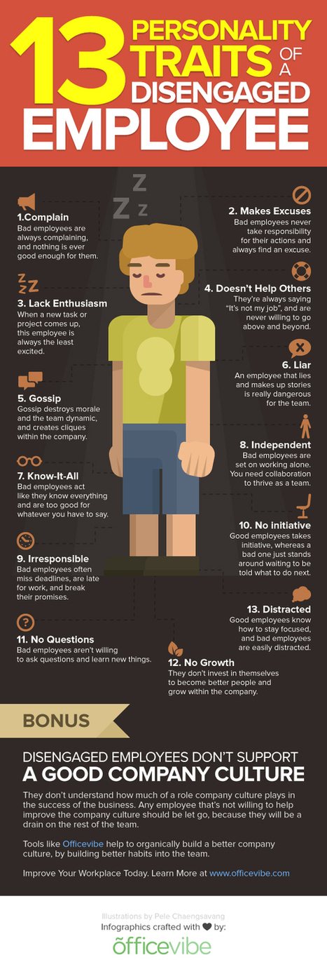 13 Personality Traits of a Disengaged Employee [Infographic] | Logistics World | Scoop.it