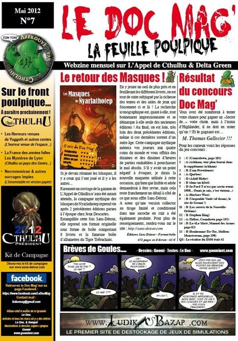 Doc.mag-7.pdf - Le Webzine mensuel sur l'Appel de Cthulhu & Delta Green | Jeux de Rôle | Scoop.it