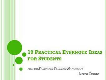 Free download: 19 Practical Evernote Ideas for Students | One-to-one computing in education | Scoop.it