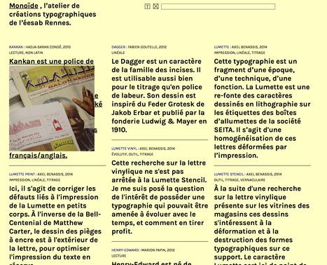 Monoïde, l'atelier de créations typographiques [éesab - Rennes]. | #arts visuels #graphisme #etc | Scoop.it