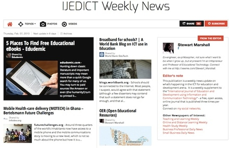 February 7, 2013: IJEDICT Weekly News is out | Studying Teaching and Learning | Scoop.it
