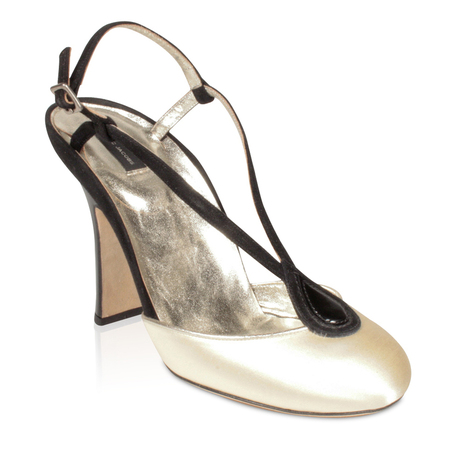 Marc Jacobs' Women's Sandal Black and Gold Satin and Suede Shoe (MJ1502) | Designer Womens Shoes | Scoop.it