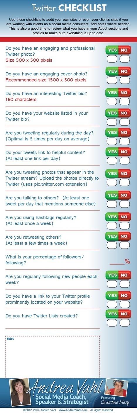Facebook, Google+, Twitter, LinkedIn, Pinterest, YouTube - Social Media Checklist | Pinterest marketing | Scoop.it