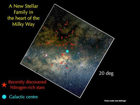 Nitrogen-rich stars discovered in the Milky Way's core | Astronomy | Scoop.it