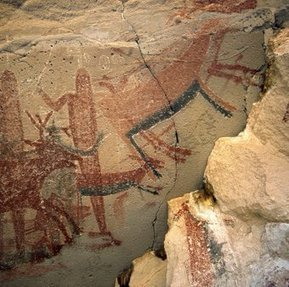 Close up of cave paintings from Cueva del Batequi in the Sierra de San Francisco, a UNESCO World Heritage Site | Baja California | Scoop.it
