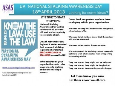 Rape Crisis Scotland | National Stalking Awareness Day 2013 18th April | equalities news | Scoop.it