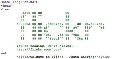 Twitter / StuRobson: nice bit of ascii art in the ... | ASCII Art | Scoop.it