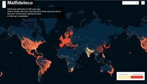 Un mapa localiza en 50.000 ciudades a los usuarios de Ashley Madison | Informática Forense | Scoop.it