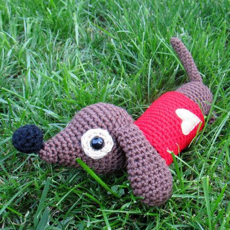 Dachshund Dog crochet pattern - PDF Digital Download | dacshund patterns | Scoop.it