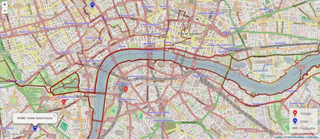 R tutorial for Spatial Statistics: Organize a walk around London with R | Tecnologia etc | Scoop.it