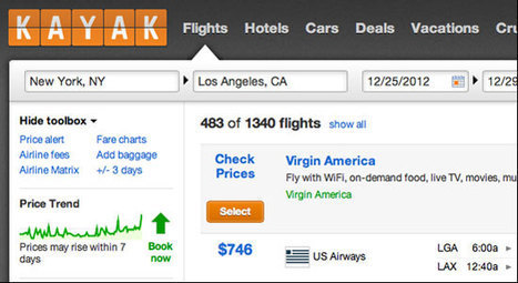 Kayak adds price forecasts to US and UK fare search, saying it's better than Bing Travel - Tnooz | Hospitality Technology | Scoop.it