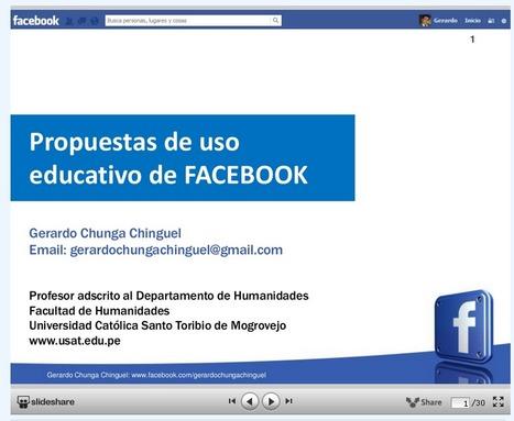 Propuestas de uso educativo de FaceBook #socialmedia #education | Pedalogica: educación y TIC | Scoop.it