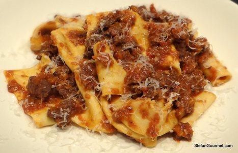 Pappardelle al Ragù di Cinghiale - Fresh Pasta with Wild Boar Ragù   Le Marche and Food   Scoop.it