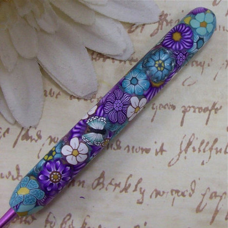 Susan Bates Polymer Clay Covered Crochet Hook, Size G 6/ 4.00mm   Favorites Polymer, Fimo Creations   Scoop.it