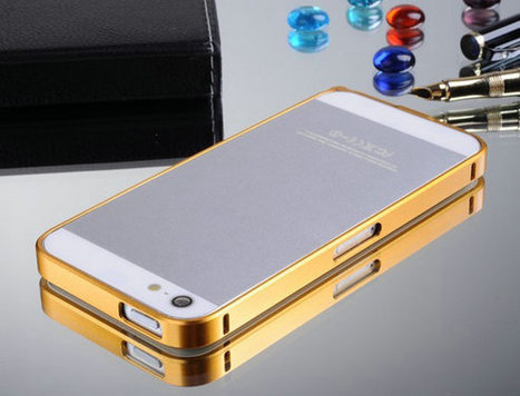 Luxury Ultra Thin 0.7mm Gold Metal Bumper Case for iPhone 5/ 5S | Latest phone accessories | Scoop.it