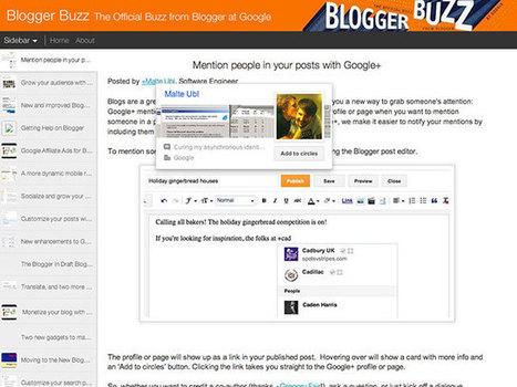 Blogger : arrivée des mentions Google+ | Freewares | Scoop.it