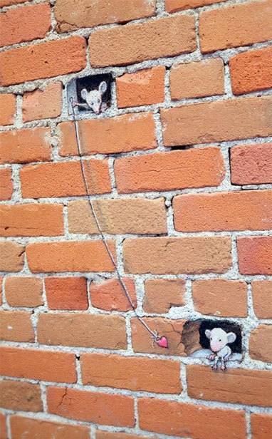 Street Art by David Zinn | Share Some Love Today | Scoop.it