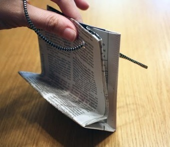 How to make gift bags from newspaper | How About Orange | Creativity and imagination | Scoop.it