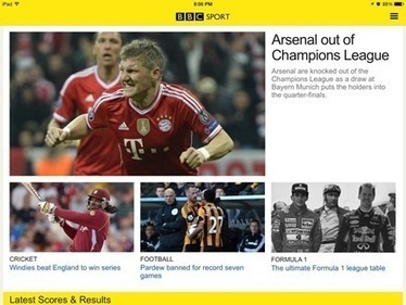 Notable New iPad Apps: BBC Sport | iPad Insight | iPads in Education | Scoop.it