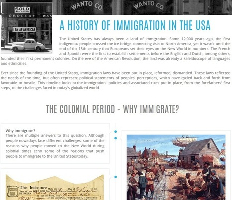 Free Technology for Teachers: A History of Immigration in the United States - A Multimedia Timeline | Edtech PK-12 | Scoop.it