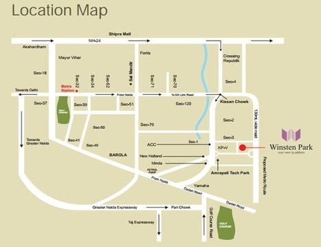 VHR Winsten Park Location Map | Noida Property | Scoop.it