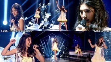 Photos : Sarah sexy dans The Voice (27/04/13)   Radio Planète-Eléa   Scoop.it